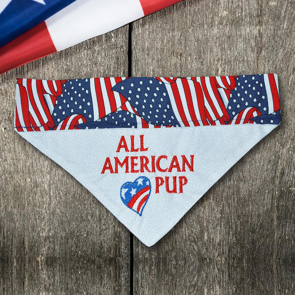 American Pup / Over the Collar Dog Bandana