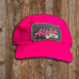 Distressed Cadet Cap - Alpha Bitch