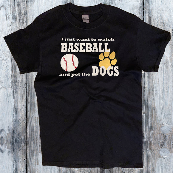 Watch Baseball & Pet the Dog/Cat Shirt