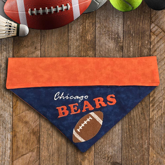 Chicago Bears / Over the Collar Dog Bandana