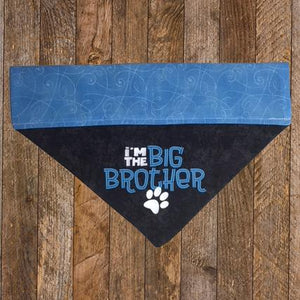 """I'm the Brother"" Dog Bandana - Mydeye"