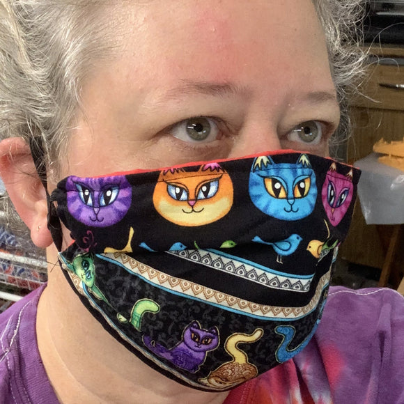 Copy of Fabric Face Mask / Face Covering - CAT Themed