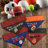 Chicago Blackhawks / Over the Collar Dog Bandana