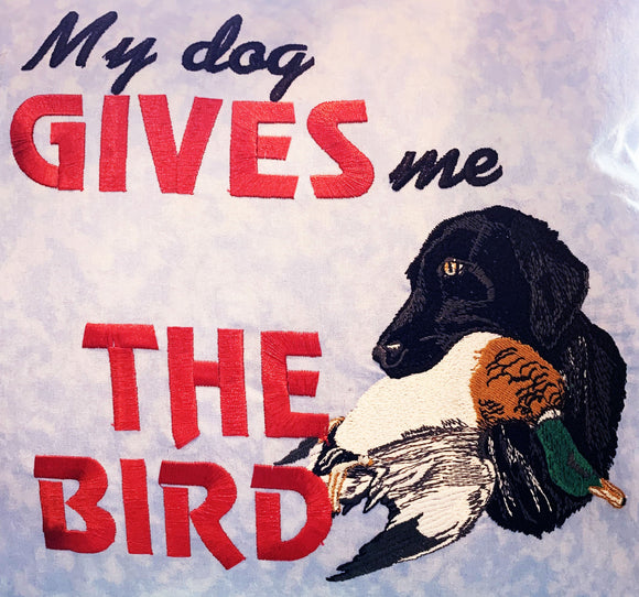 Pillow - My Dog Gives Me the Bird - 16
