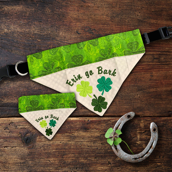 Erin go bragh irish dog bandana collar st. patricks day bandana