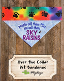 Sky Raisins / Over the Collar Dog Bandana