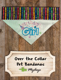 Birthday Girl / Over the Collar Dog Bandana