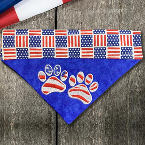 Flag Paws / Over the Collar Dog Bandana - Mydeye