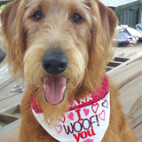 I Woof You / Over the Collar Bandana
