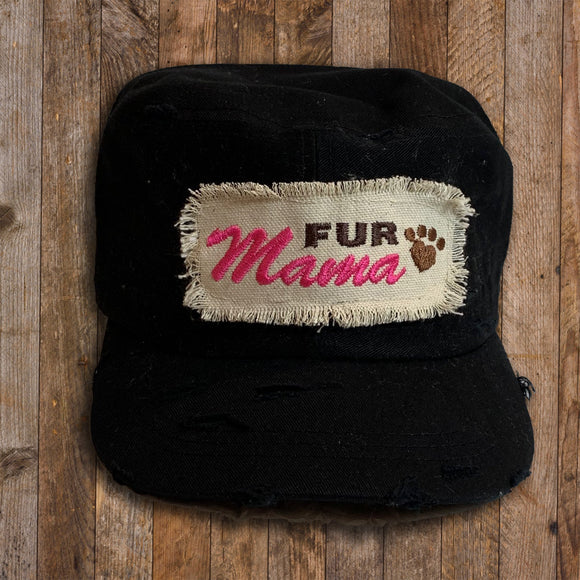 Distressed Cadet Cap - Fur Mama