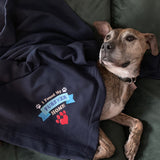 Sweatshirt Fleece Stadium Blanket - I found my FURever Home!