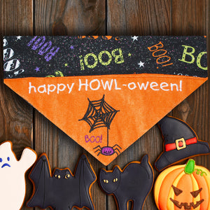 Happy Howl-oween! / Over the Collar Halloween Dog Bandana