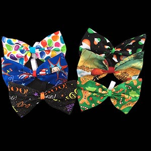 Holiday - Dog Bow Tie 6 - Pack
