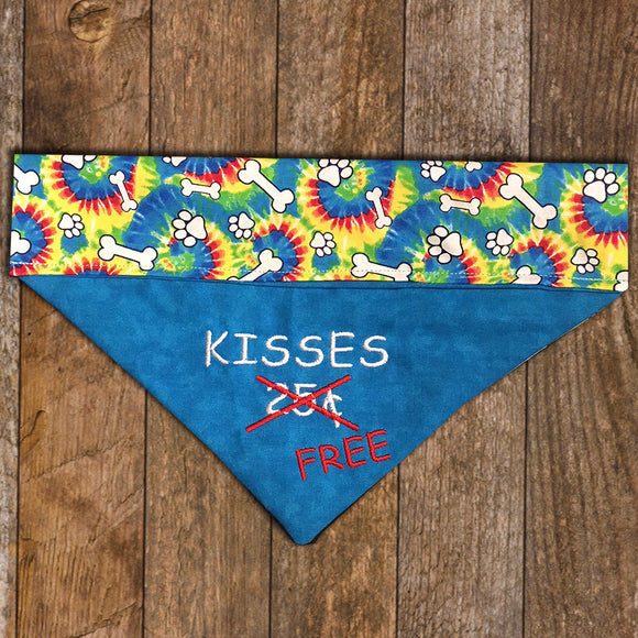 Kisses Free / Over the Collar Dog Bandana