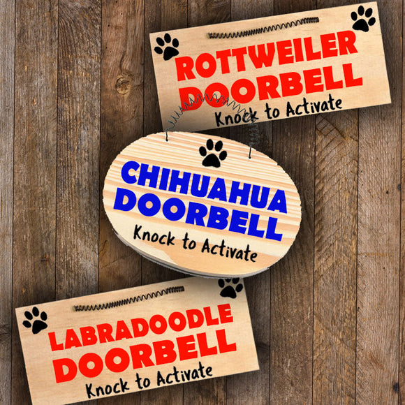 Mini Wood Sign - [Breed] Doorbell