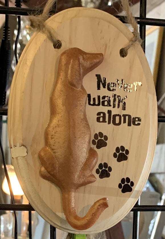 3D Resin & Wood Sign - Never Walk Alone