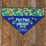 Pet Me Please / Over the Collar Dog Bandana