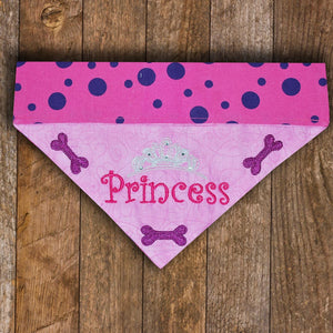 Princess / Over the Collar Dog Bandana