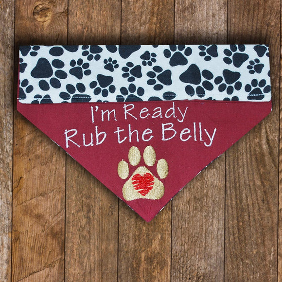 Rub the Belly / Over the Collar Dog Bandana