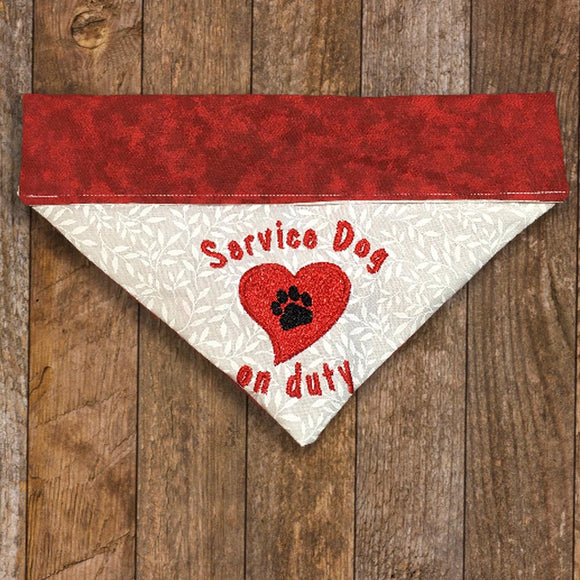 Service Dog / Over the Collar Dog Bandana
