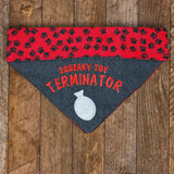 Squeaky Toy Terminator / Over the Collar Dog Bandana