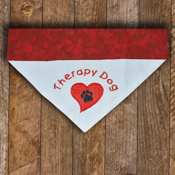 Therapy Dog / Over the Collar Dog Bandana