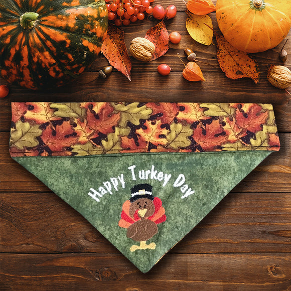 Happy Turkey Day / Thanksgiving Dog Bandana