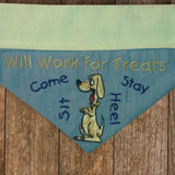 Will Work for Treats / Over the Collar Dog Bandana