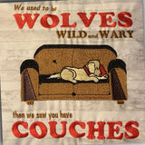 "Pillow - We Used to be Wolves - 16"" x 16"" - Mydeye"