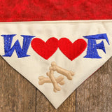 Woof / Over the Collar Dog Bandana