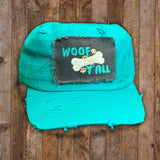 Distressed Cadet Cap - Woof Y'all