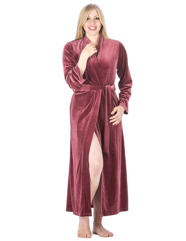 Women's Royal Velvet Robe - Mauve