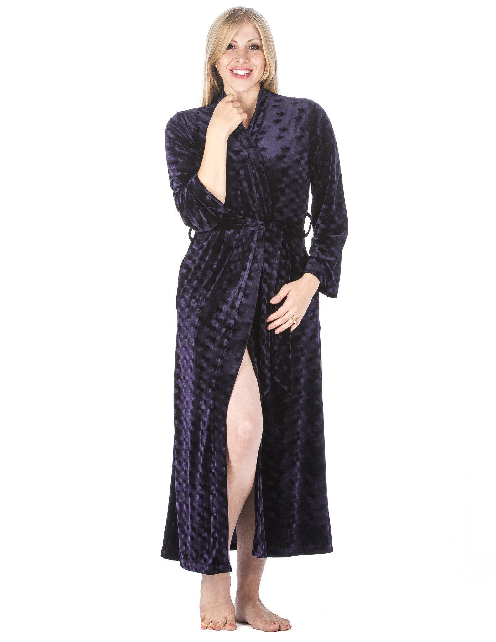 Women's Royal Velvet Robe - Dark Blue