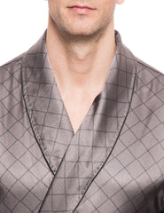 Diamond Windowpane Charcoal