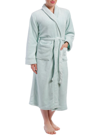 Women's Coral Fleece Plush Robe - Blue