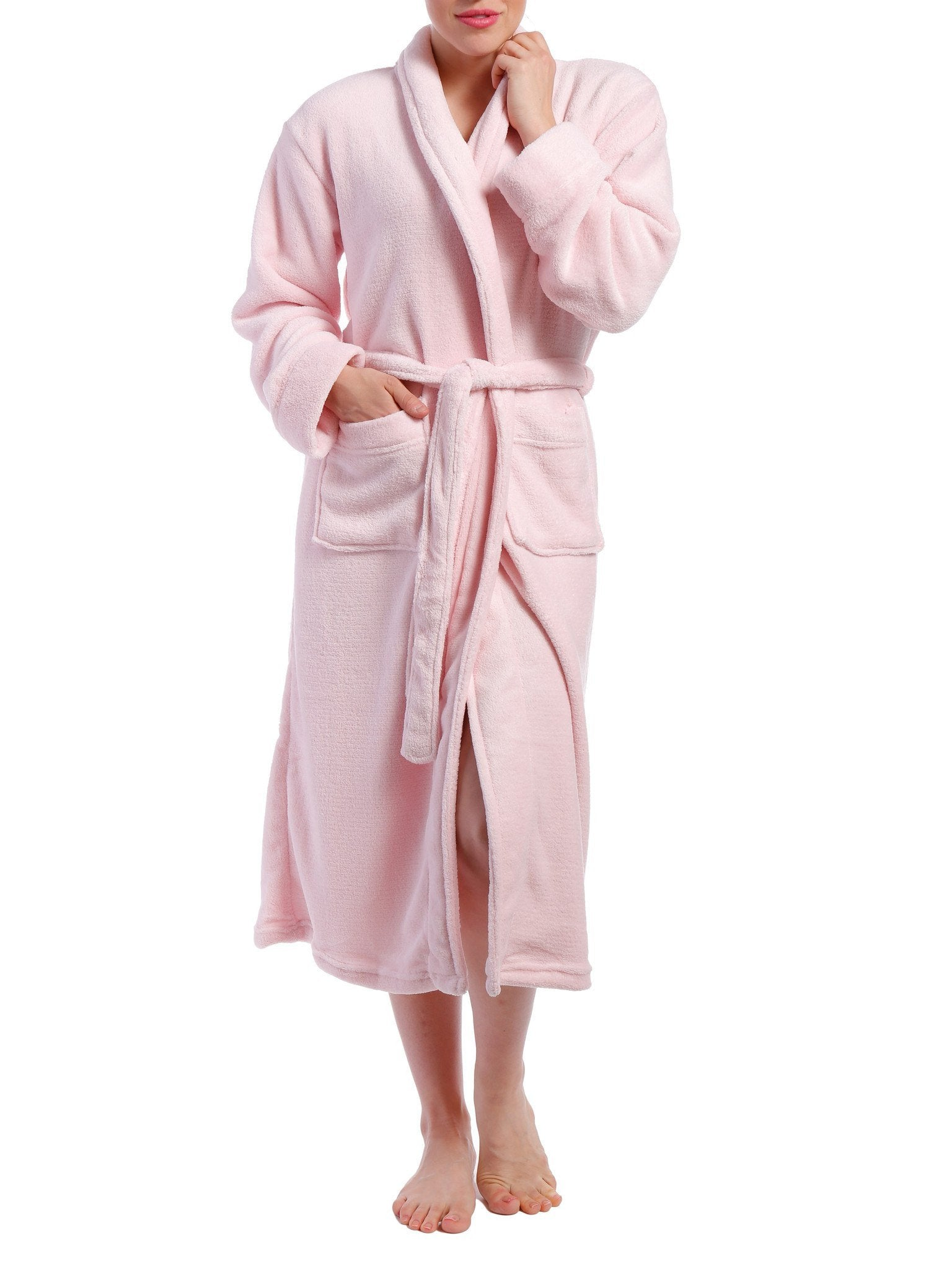 Women's Coral Fleece Plush Robe - Pink