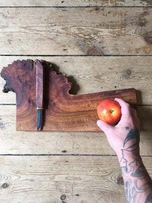 Burl Knife + Board