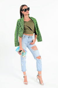 Off the Shoulder Wrap Crop Top
