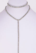 2 PC Rhinestone Choker & Y Necklace