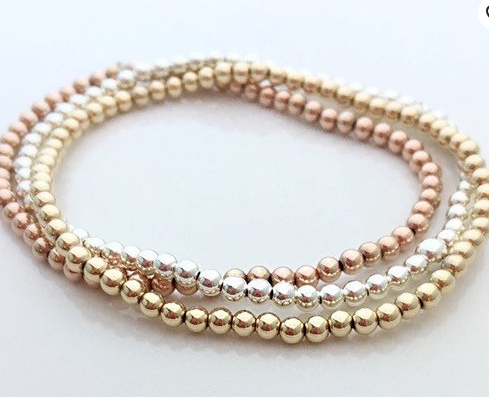 3MM Basic Bead Bracelet