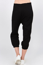 Asymmetrical Drawstring Cropped Jogger