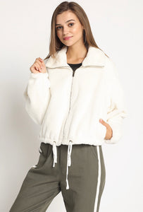 Cropped Fur Bomber