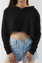 Cropped Hoodie with Raw Edge
