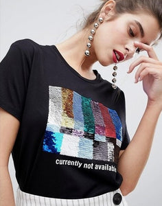 Currently Not Avail Sequined Tee