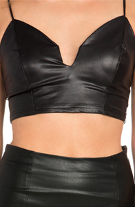 Too Hot 2 Handel Leather Skirt Set