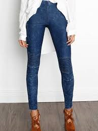 Denim Moto Leggings