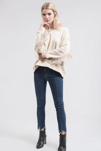 Fringe Back Sweater
