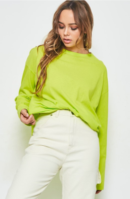 Oversized Cotton Long Sleeve Tee