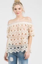 Crochet & Tulle Off The Shoulder Top