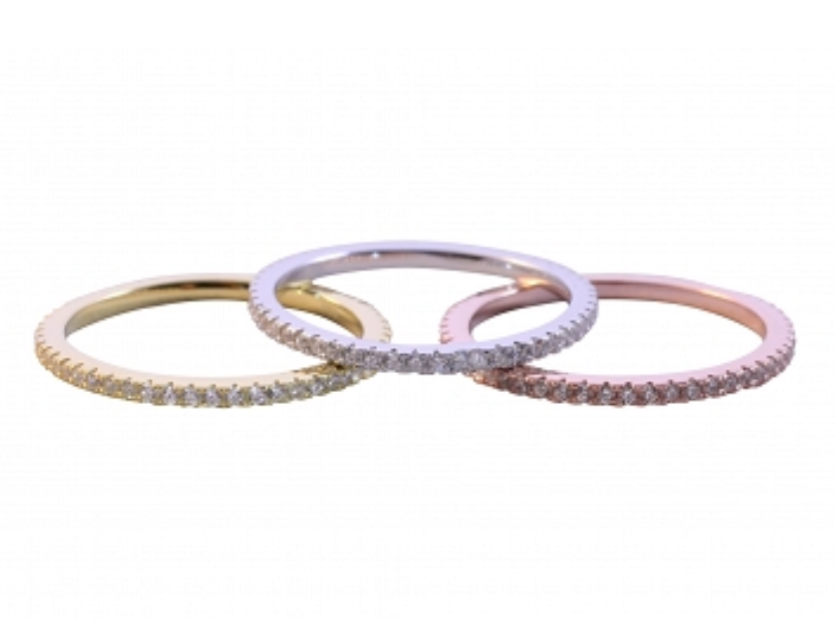 Pave Stackable Rings